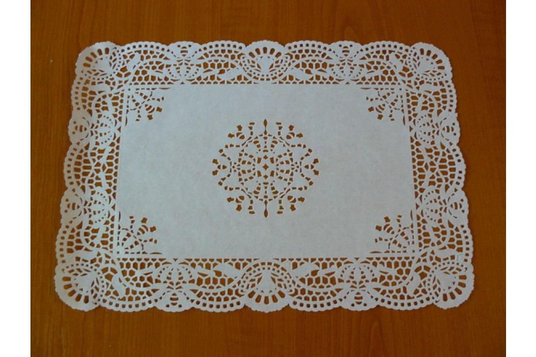 Papírová krajka pod dort obdélník 25x38cm