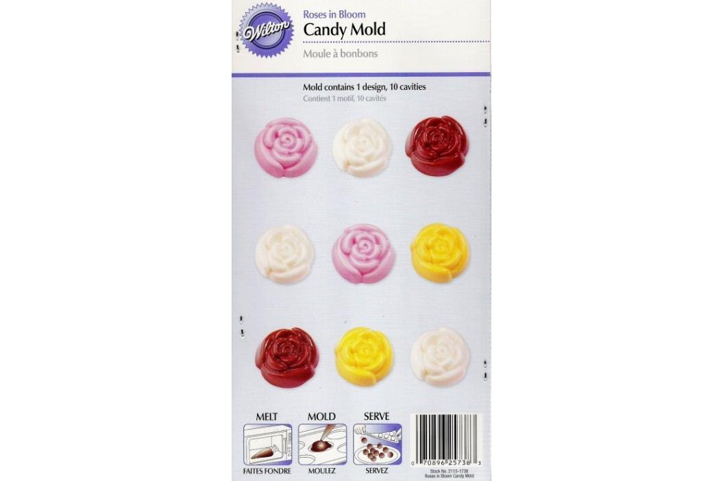 Forma na čokoládu - rozkvetlé růže