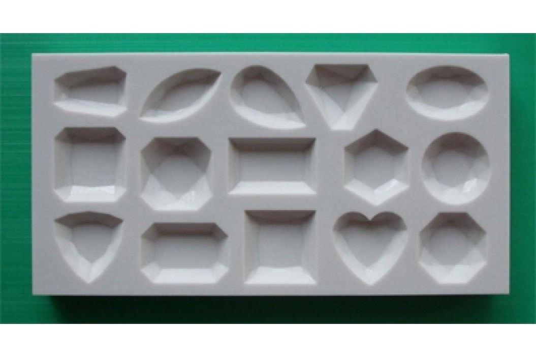 Silikonová forma na marcipán - diamanty