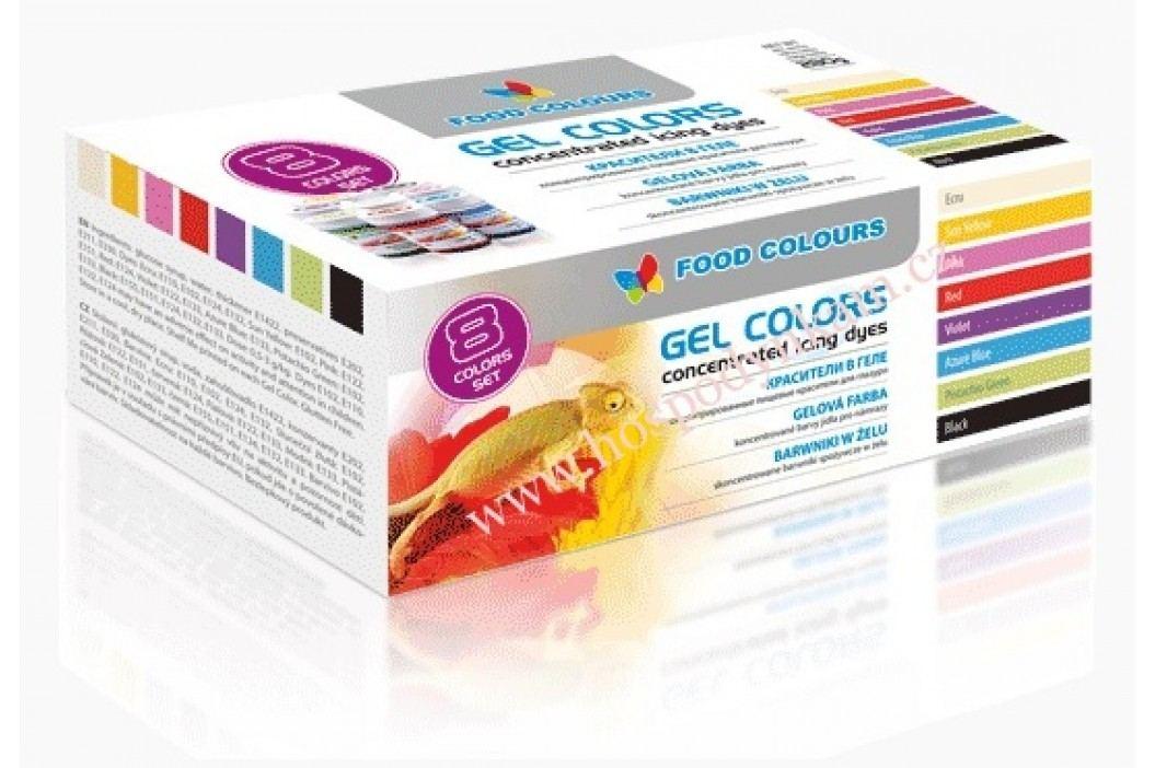 Sada 8 gelových barev Food Colours