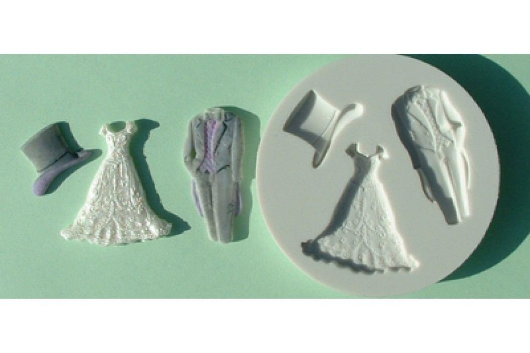 Silikonová forma na marcipán - svatba
