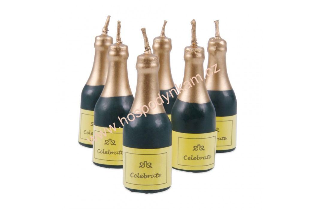 Dortové svíčky - láhev šampaňského