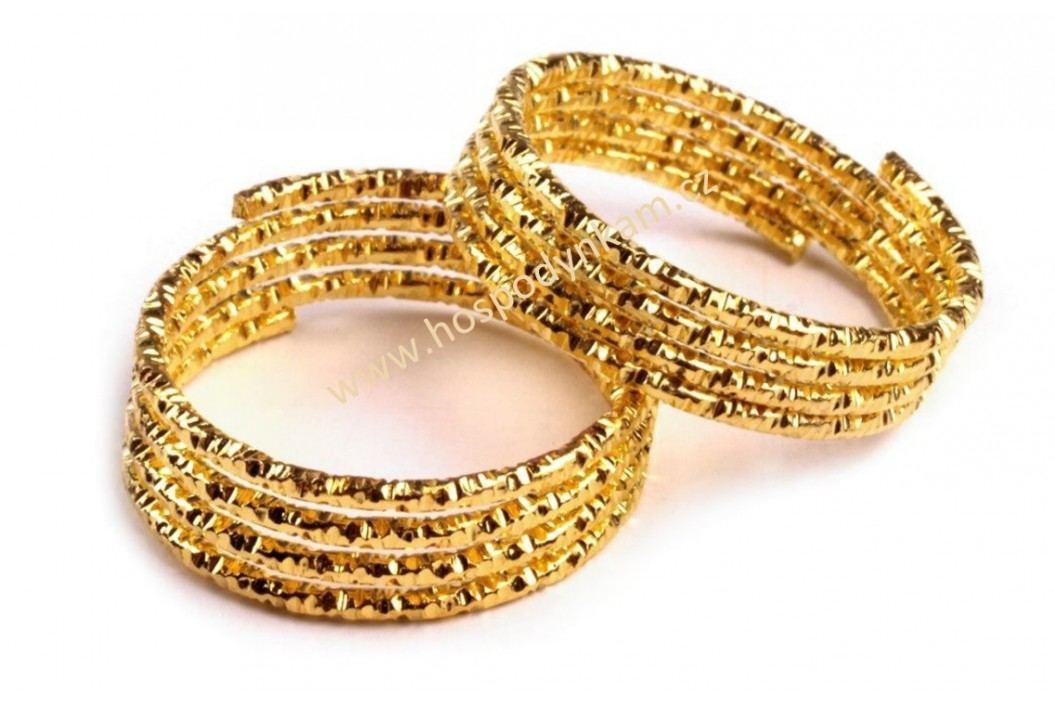 Prstýnek zlatý, široký