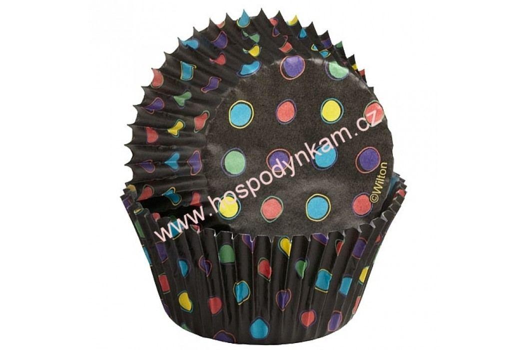 Cukrářské košíčky na pečení Wilton černé s puntíky obrázek inspirace