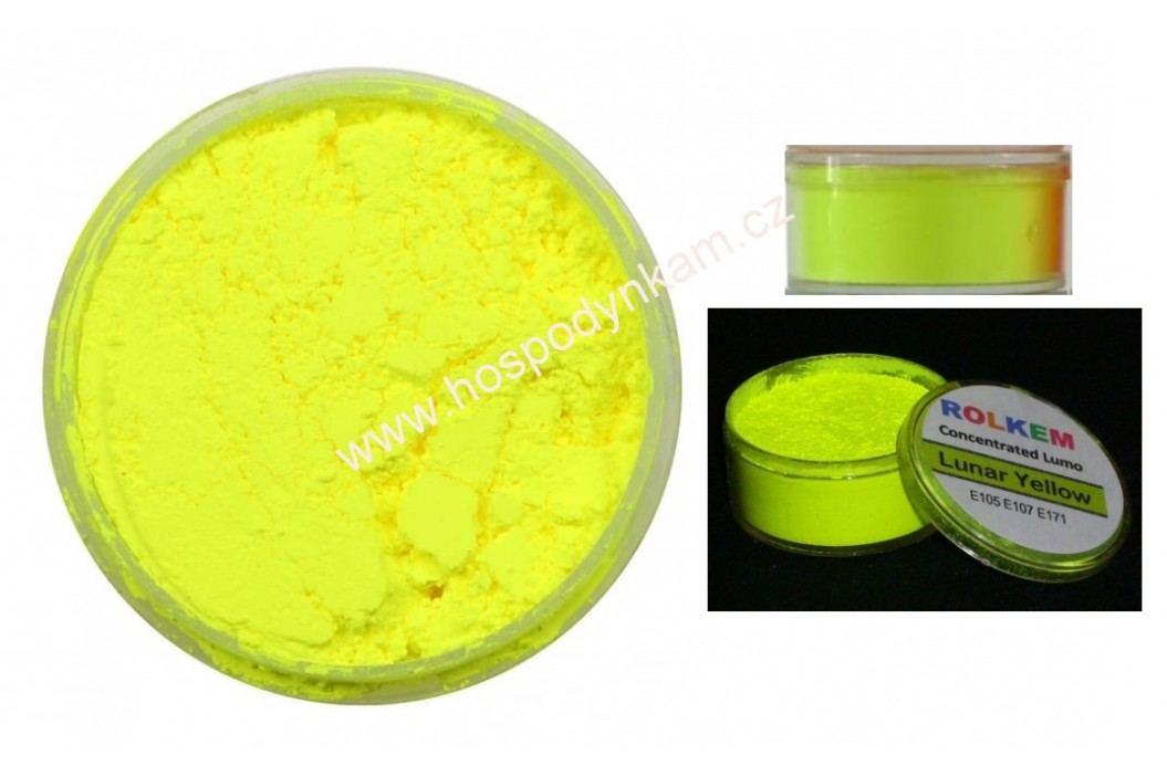 Prachová barva neonová žlutá obrázek inspirace