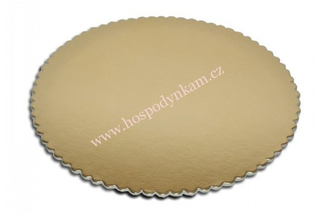 Tác na dort kartonový zlatý 18cm