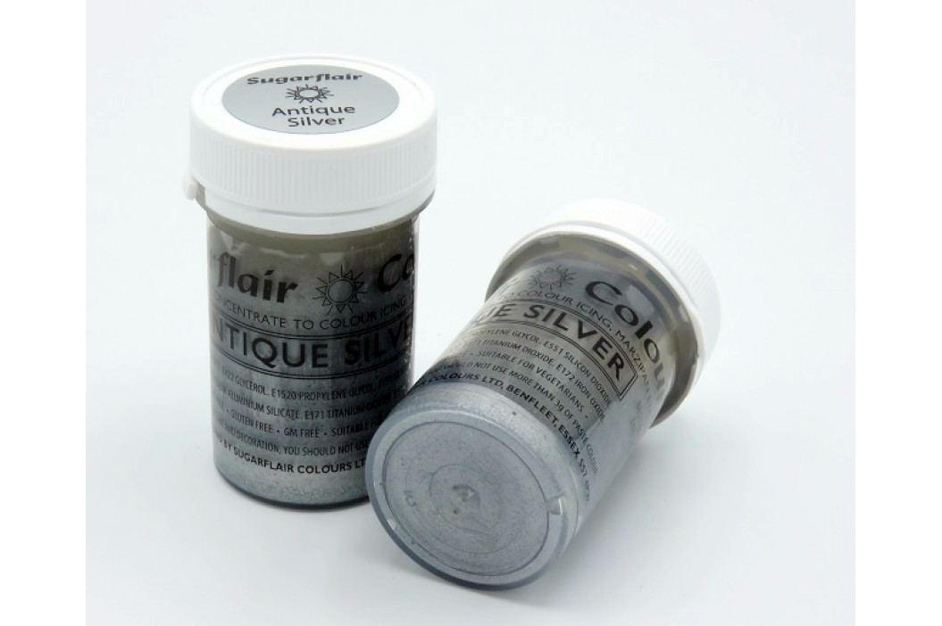 Gelová barva Sugarflair Antique Silver 25g