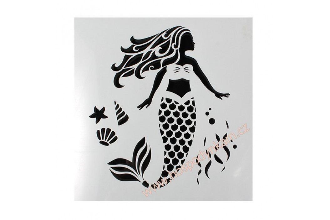 Cake Star Stencil mořská panna