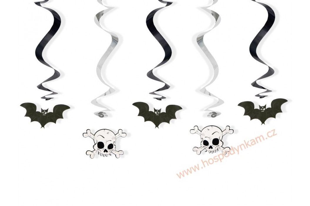 Spirálová dekorace netopýr a lebka obrázek inspirace