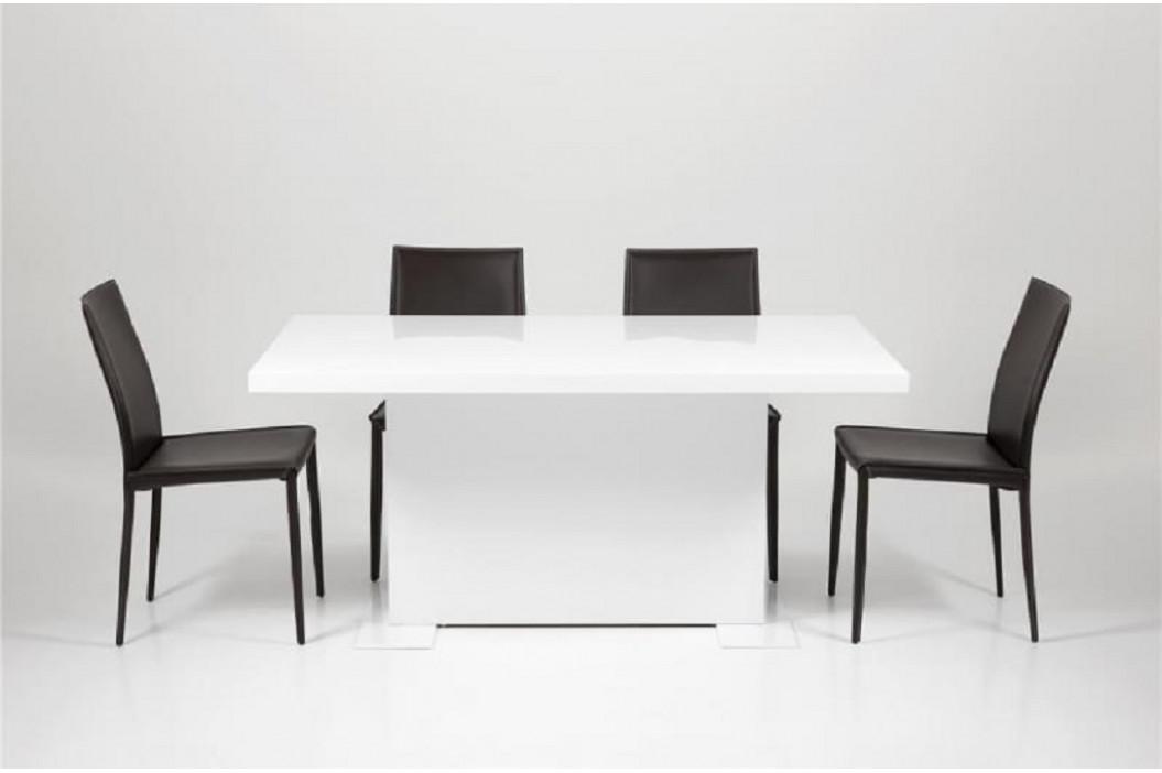 SCANDI Tmavě hnědá jídelní židle Andrea