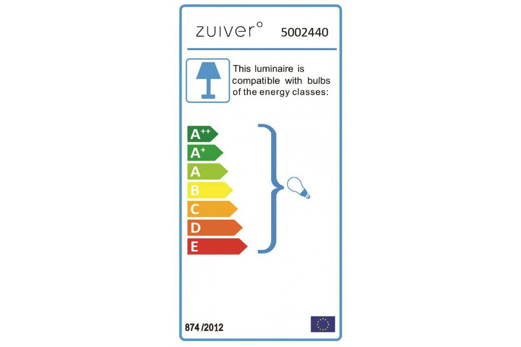 Chromové závěsné světlo ZUIVER RETRO '70 R40 cm