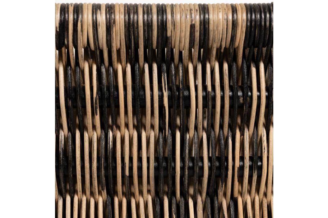 Černo hnědé ratanové křeslo LaForma Lin