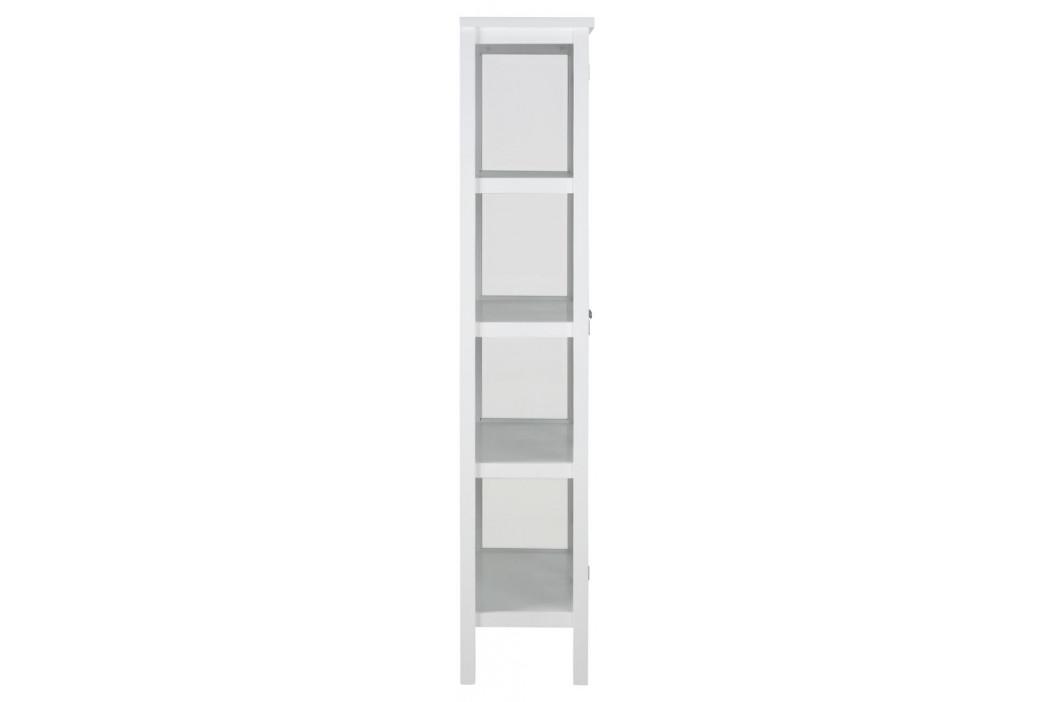 SCANDI Bílá dřevěná vitrína Marion 180 cm