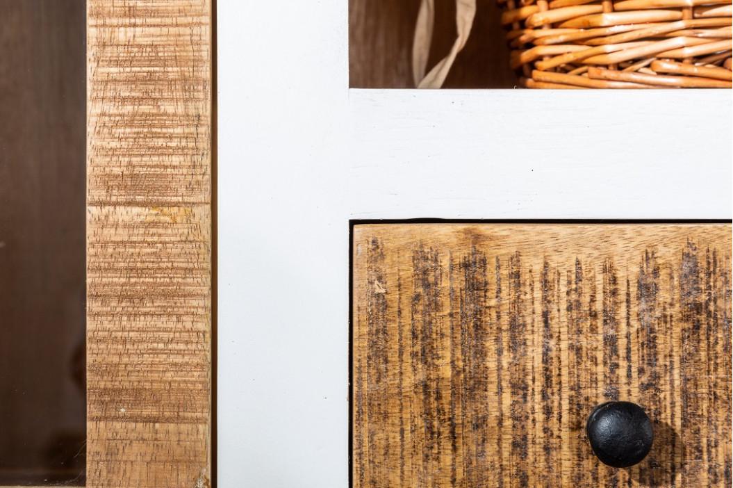 Moebel Living Masivní mangová vitrína Provence 160 x 40 cm