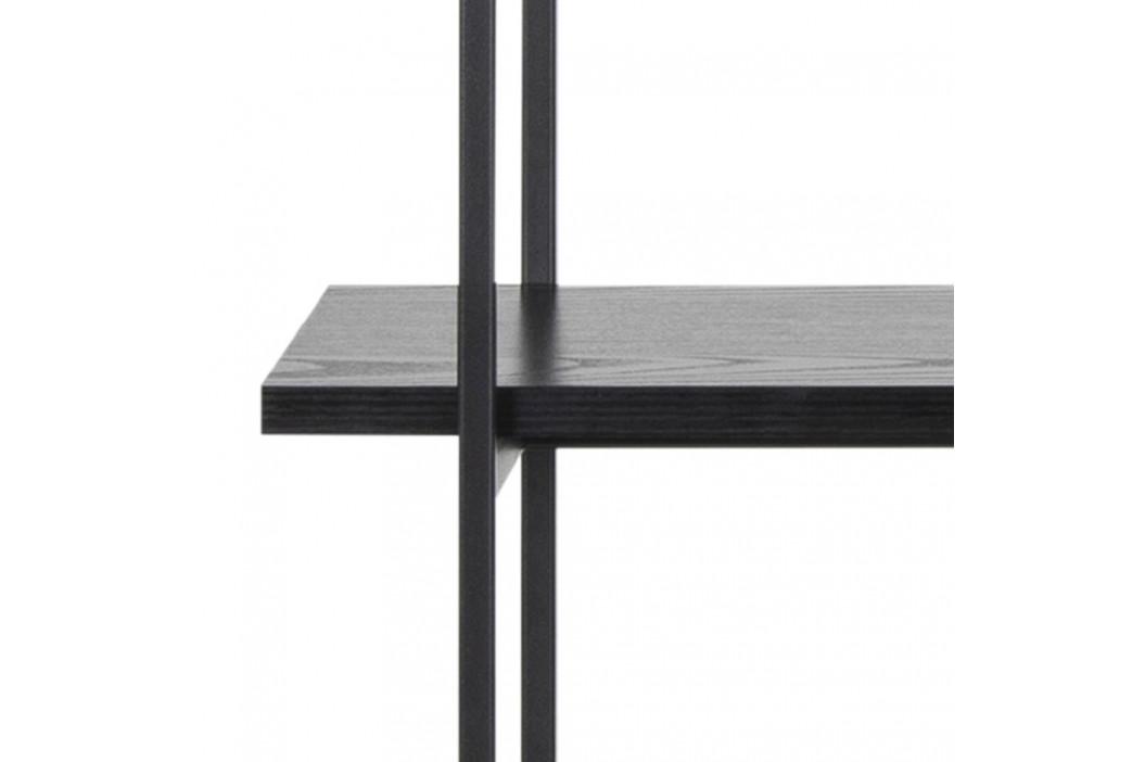 SCANDI Černý dřevěný regál Toren 172 cm