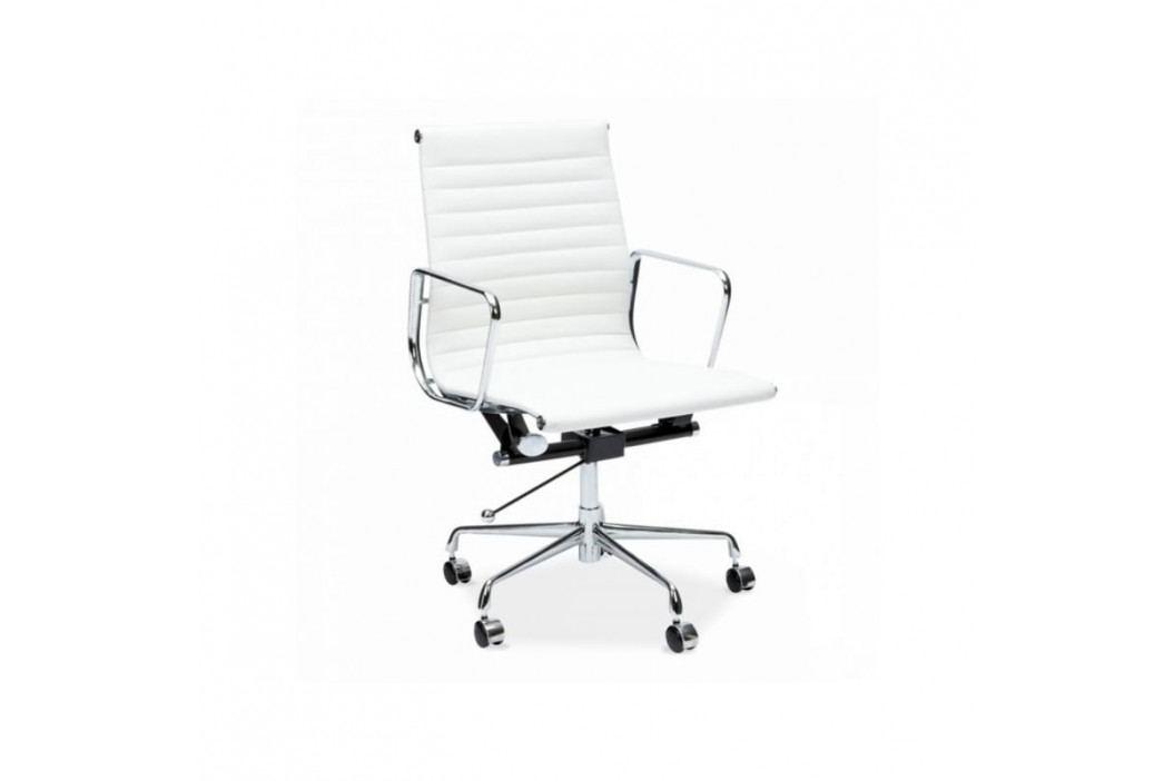 Kancelářské křeslo Soft Pad Group 117, bílá kůže | -20 % S27712 CULTY +