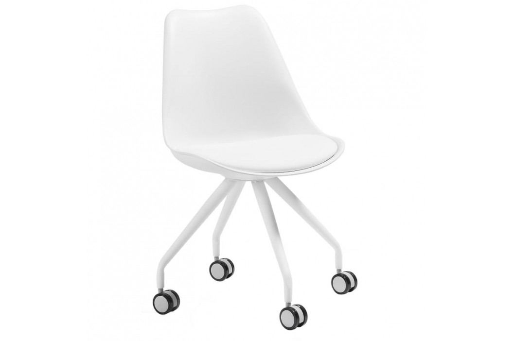 Kancelářská židle LaForma Lars, bílá C975U05 LaForma