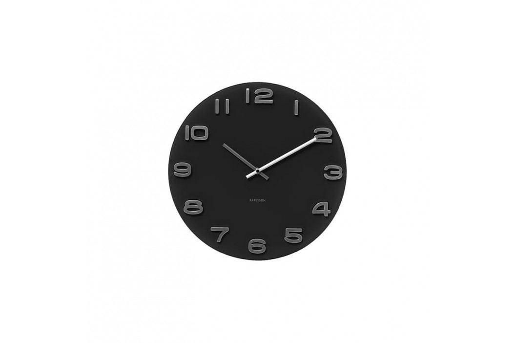 Nástěnné hodiny Sego 35cm, černá tfh-KA4401 Time for home