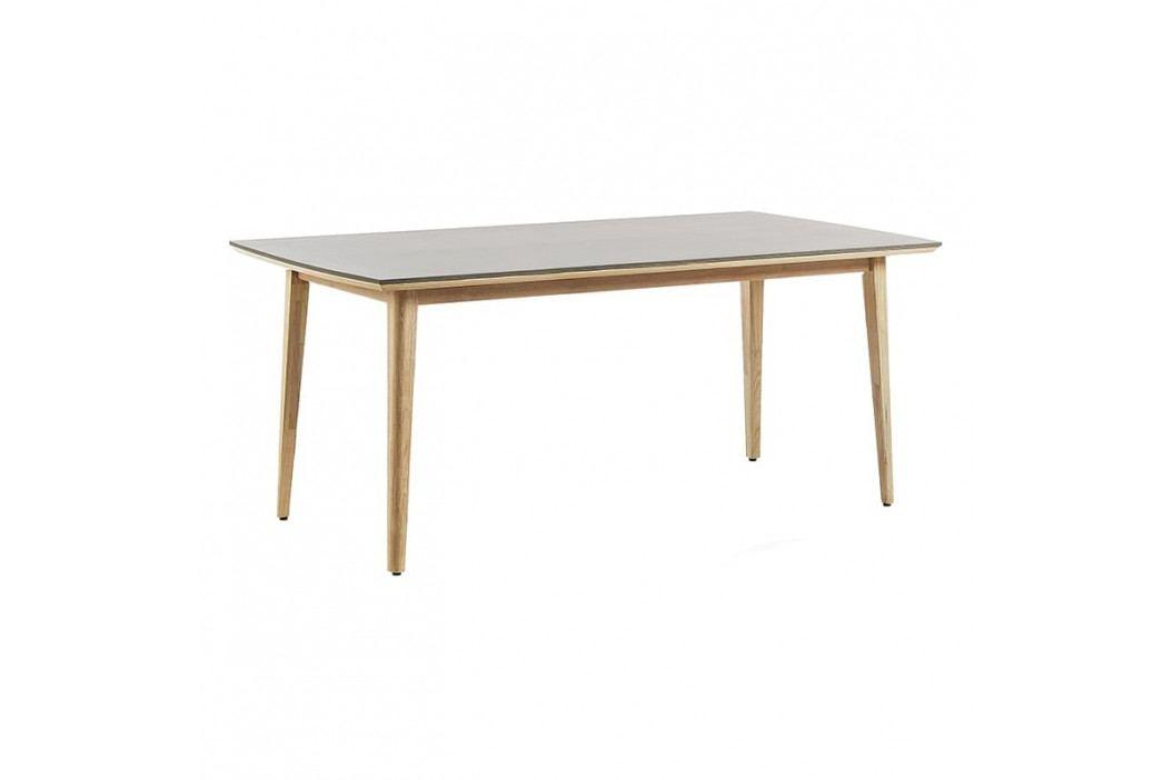 Jídelní stůl LaForma Khloe 200x100 cm, přírodní/šedá CC0552PR14 LaForma