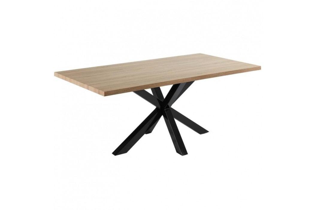 Jídelní stůl LaForma Arya 200x100 cm, černá/dub C408M46 LaForma obrázek inspirace