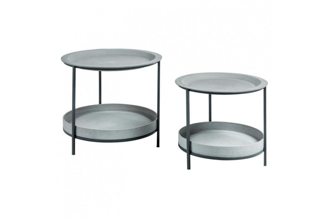 Set odkládacích stolků LaForma Sleet, šedá/černá AA1768RF03 LaForma