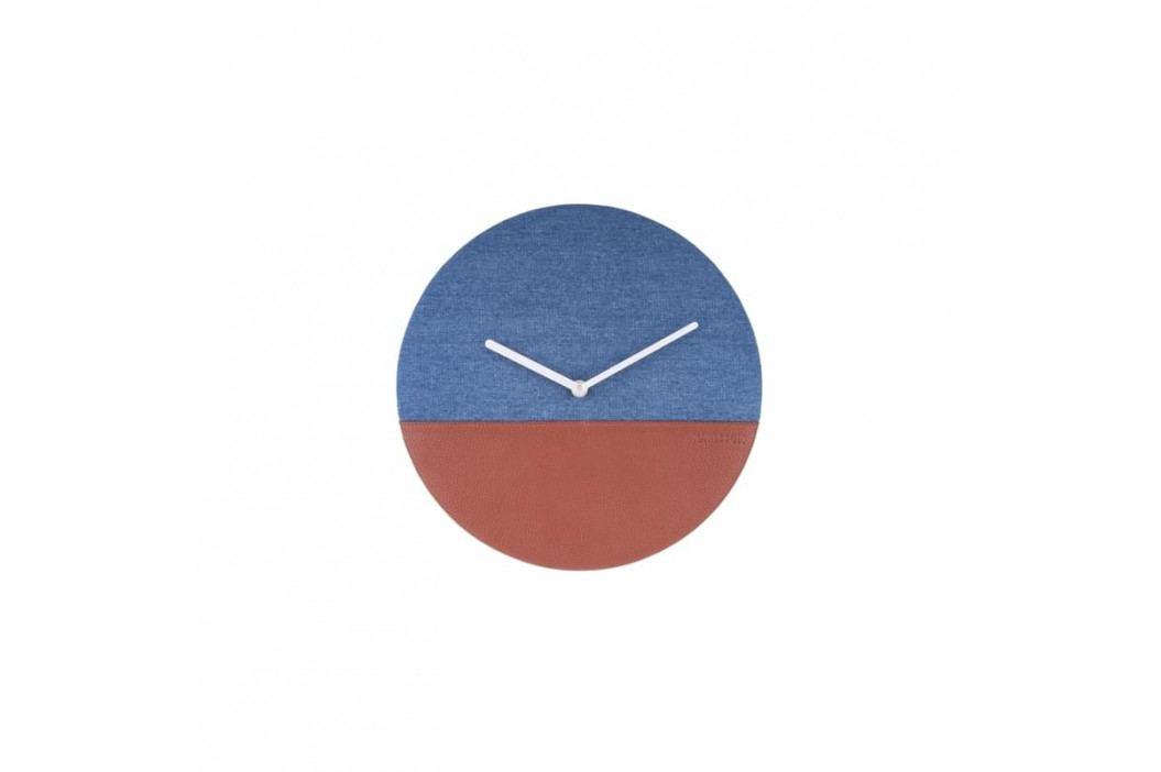 Nástěnné hodiny Melor, modrá a hnědá tfh-KA5701BL Time for home