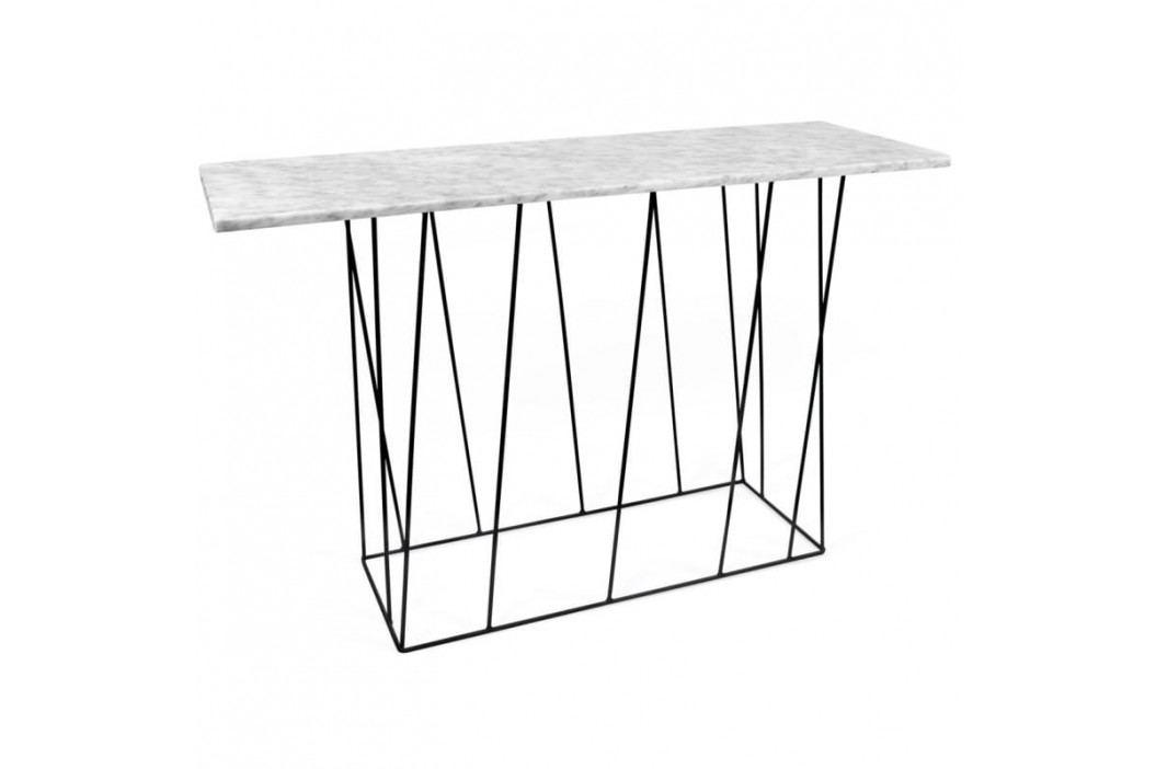 Toaletní stolek Rofus 120 cm, černá podnož, bílý mramor 9500.627460 Porto Deco