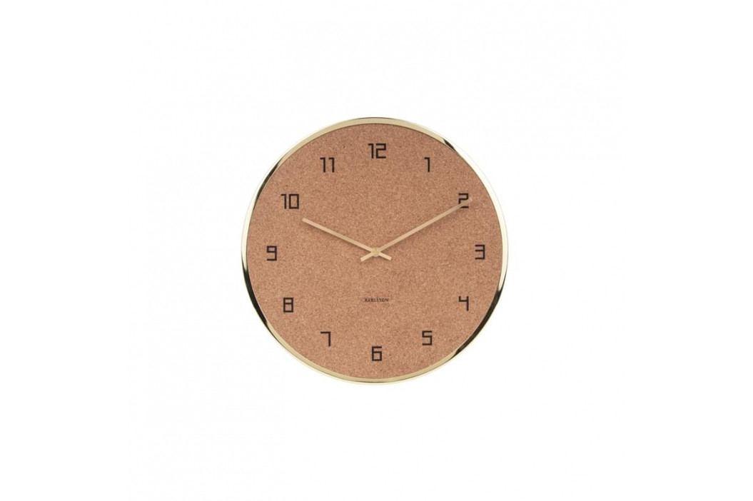Nástěnné hodiny Dex, 40 cm, zlatá, korek tfh-KA5664GD Time for home