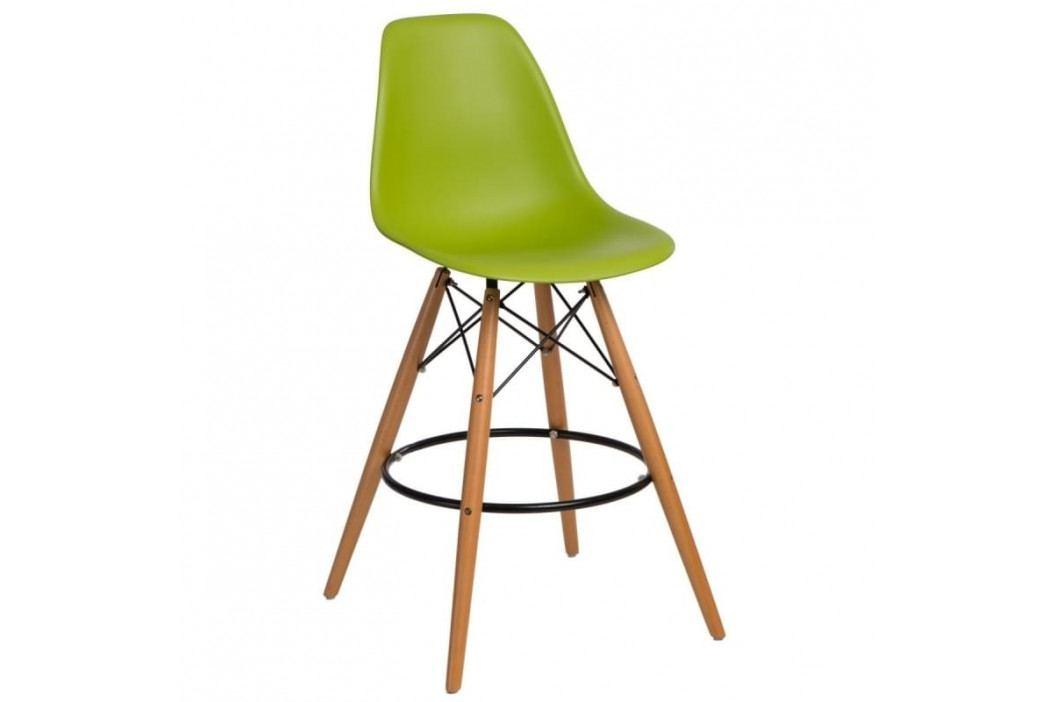 Designová barová židle DSW, světle zelená 84975 CULTY