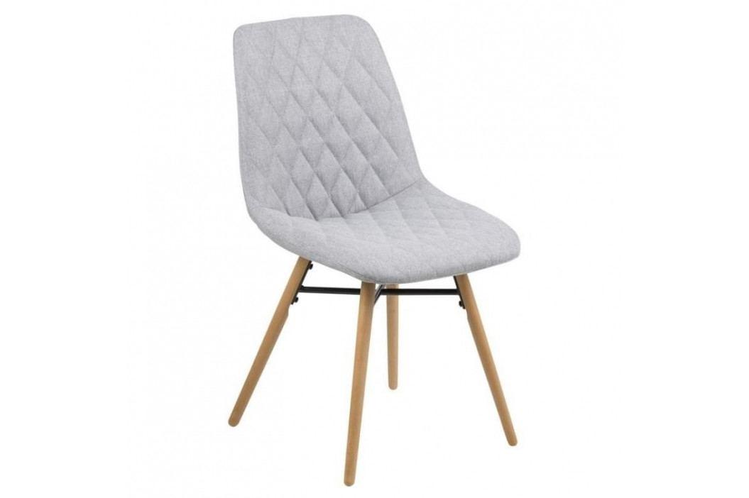 Jídelní židle Filip, látka, šedá SCHDN0000067352 SCANDI