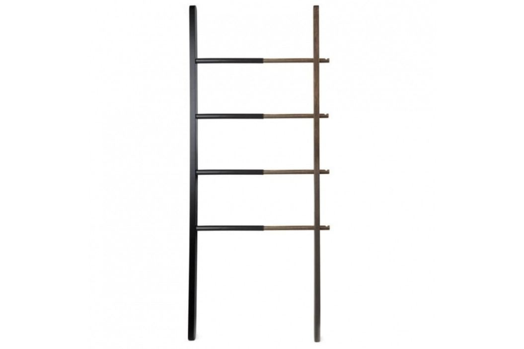 Odkládací žebřík Pinta 152 cm, černá/ořech 84449 CULTY