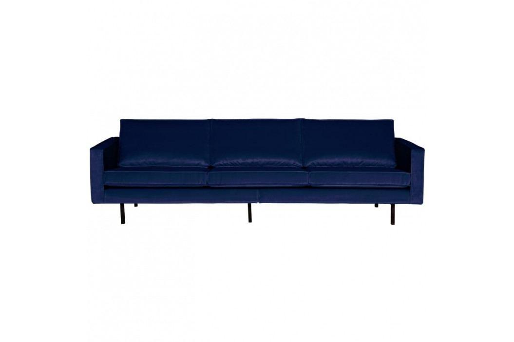 Pohovka Raden 277 cm, samet, tmavě modrá dee:800543-178 Hoorns