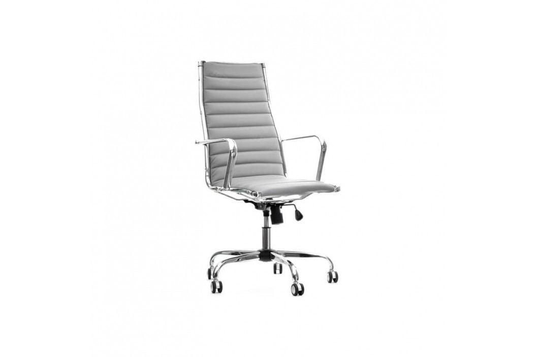 Kancelářské křeslo Top line, šedá ekokůže MP219GS Design Project