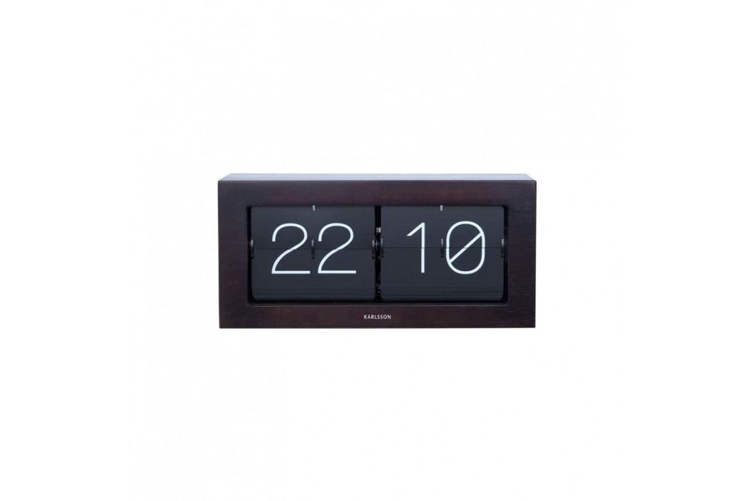 Nástěnné hodiny Carter, tmavé dřevo tfh-KA5642DW Time for home