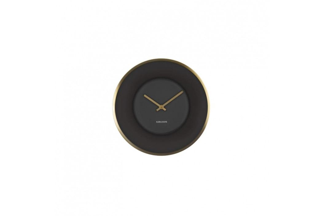 Nástěnné hodiny Salem, 30 cm, černá/zlatá Stfh-KA5613 Time for home+