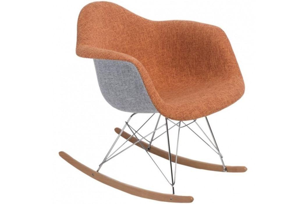 Designové houpací křeslo RAR, šedá/oranžová 80616 CULTY