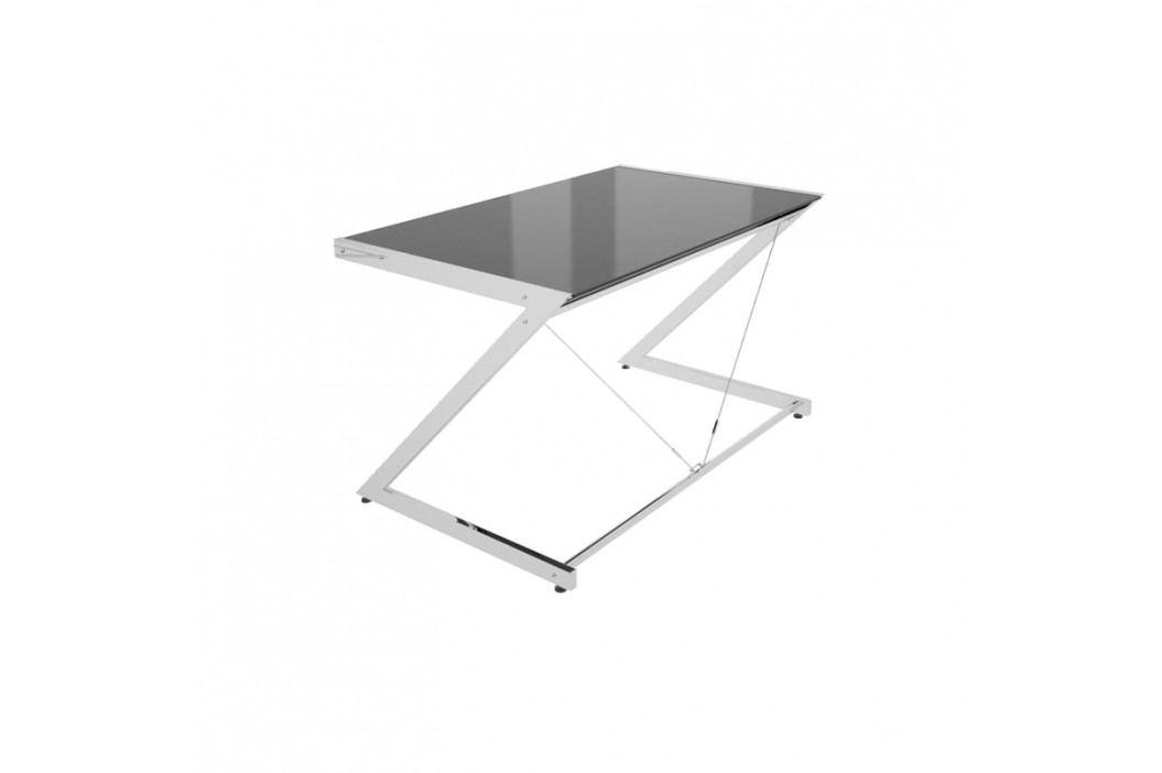 Kancelářský stůl Zoom 152x76 cm, chrom/černá UN:521 Office360