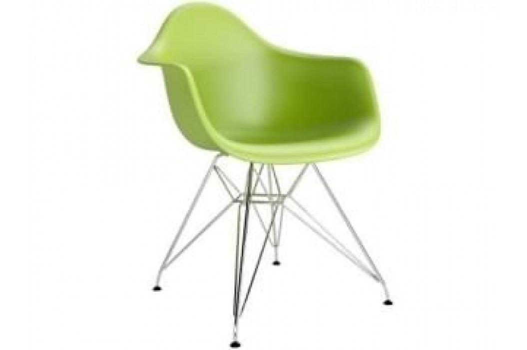Designová židle DAR, zelená (Chrom)  S48989 CULTY +