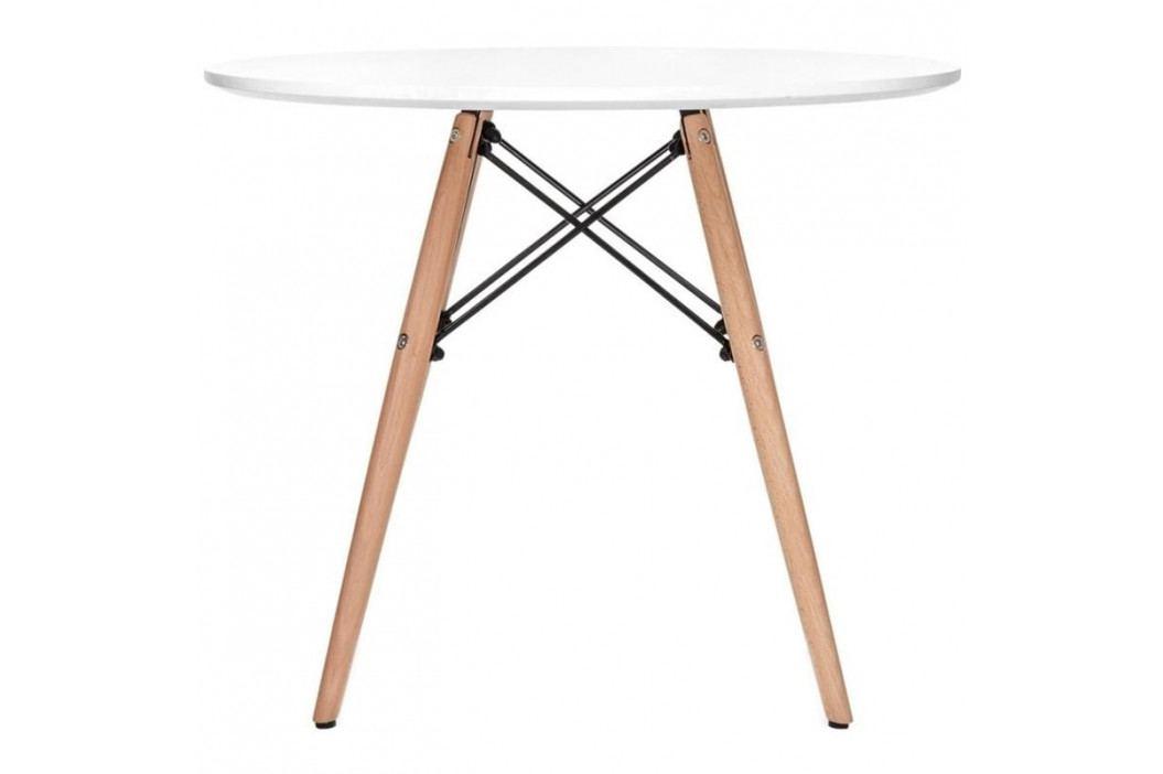 Jídelní stůl DSW průměr 70 cm, bílá S18409 CULTY +