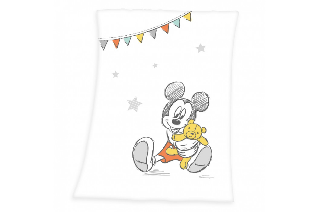 Herding Dečka pro miminka Mickey Mouse 75x100 cm