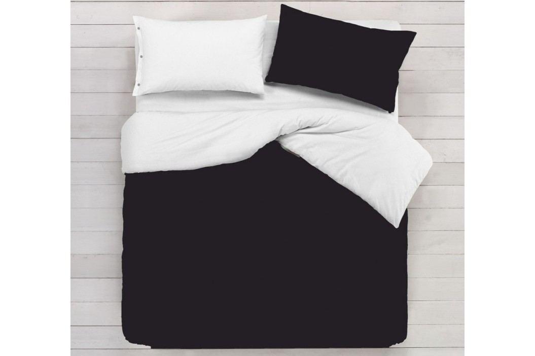 Gipetex Natural Dream Italské povlečení 100% bavlna LUX Doubleface černá-šedá - 140x220cm / 70x90cm