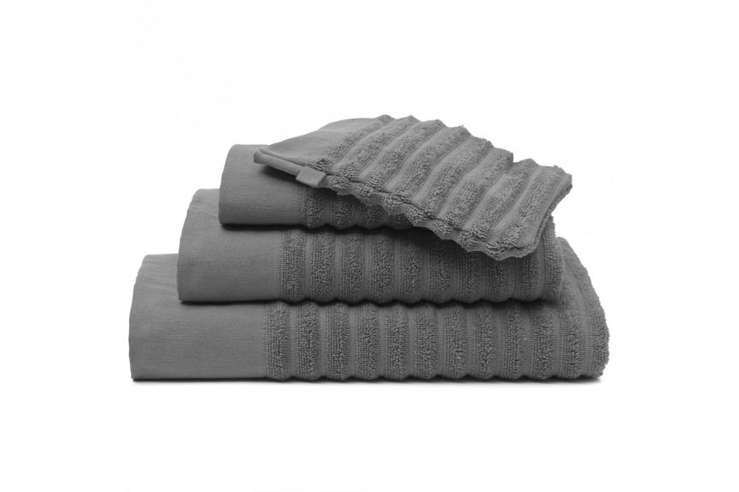 Vandyck Vandyck Ručník Border Mole grey - šedá - 60x110 cm