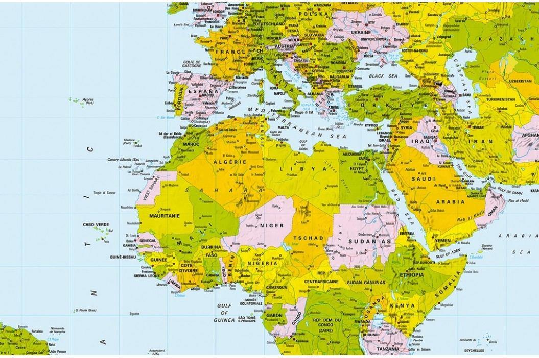 Wizard+Genius W+G Giant Art® Geografická mapa 175x115 cm