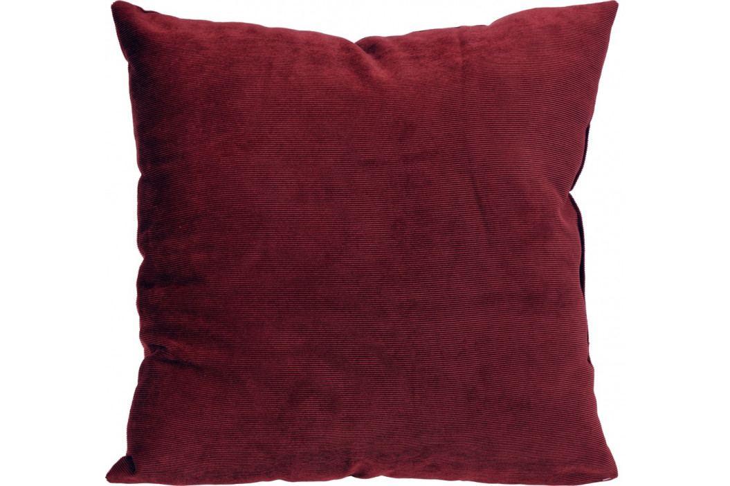 Home collection Dekorační polštářek manšestrový 45x45 cm vínová