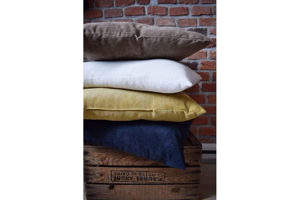 Home collection Dekorační polštářek manšestrový 45x45 cm bílá