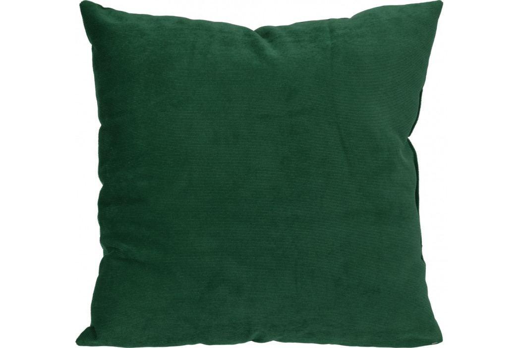 Home collection Dekorační polštářek manšestrový 45x45 cm tmavě zelená