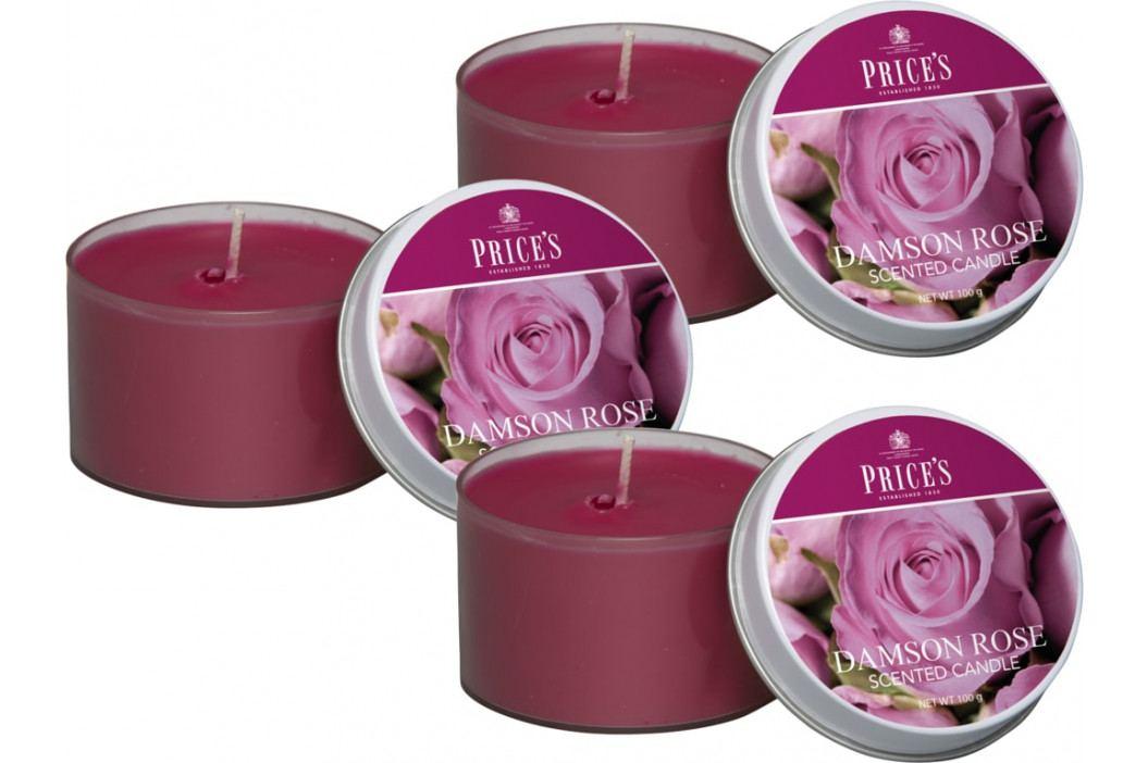 Price´s SIGNATURE vonné svíčky v plechu Purpurová růže 123g 3ks