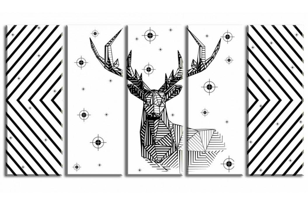 Obraz jelen geometrie (150x80 cm) - InSmile ®