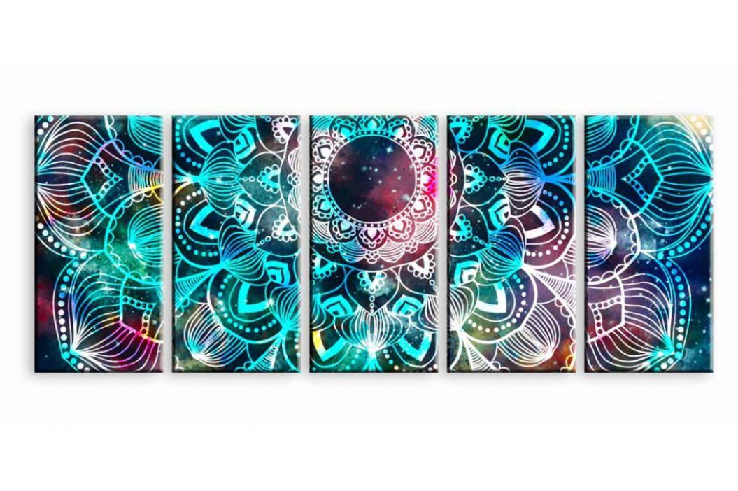 Pětidílný obraz vesmírná mandala (150x80 cm) - InSmile ®