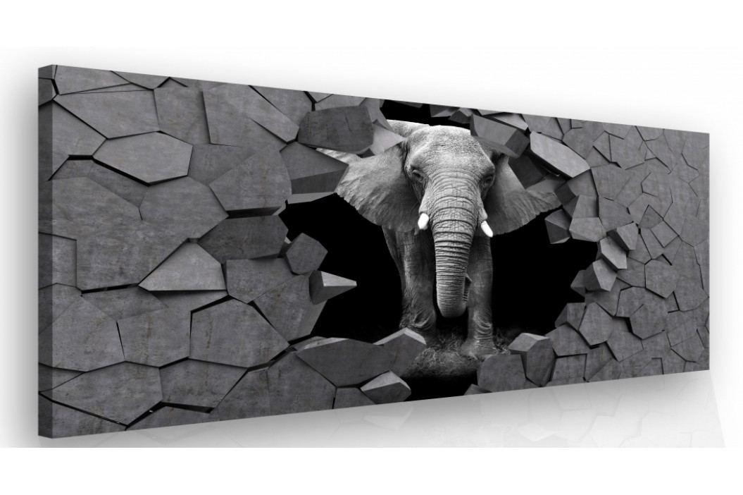 Moderní obraz na zeď - slon v kameni (150x100 cm) - InSmile ®